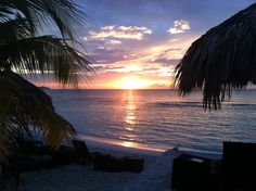 On the beach at sunset @ Secrets Wild Orchid, Montego Bay, Jamaica