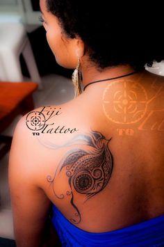 Fijian female tattoo design