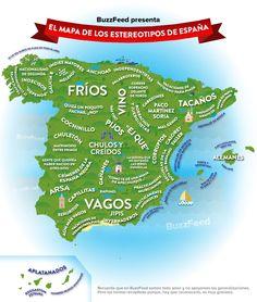 El mapa definitivo de los estereotipos de España