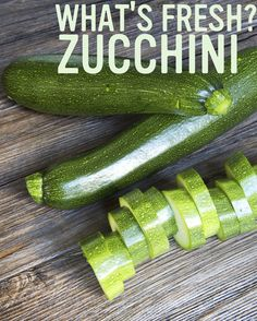 Zucchini is in season! It's excellent grilled, sautéed, stewed, pickled, or even raw. Try adding it into the mix to freshen up your family favourites. Pickles, Stew, Zucchini, Seasons, Trends, Recipes, Seasons Of The Year, Pickle, Pickling