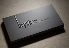 Modern Black Business Cards for Photography