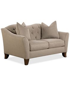 """Kira Fabric Loveseat, 59\""""W x 37\""""D x 34\""""H Like the Tim Burton style - just wish there were more color options"""