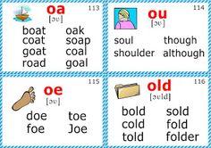 Phonics Flashcards (Long O Vowel)