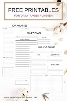 Most Up-To-Date Photo daily planner printables free Diy Career : It truly is back-to-school time for most people in addition to the stores are brimming with brightly-colored notepads, schedules, and also planners. Daily Work Planner, To Do Planner, Daily Planner Pages, School Planner, Free Planner, Weekly Planner, Daily Planners, Binder Planner, Daily Agenda