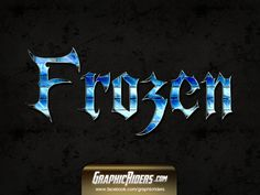 GraphicRiders | Fantasy style – Frozen (free photoshop style - text effect)
