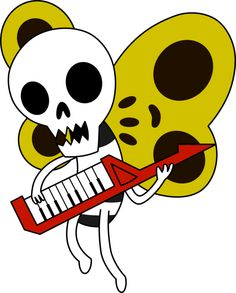 Adventure Time Skeleton Butterfly