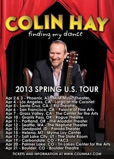 Colin Hay Touring Western U.S.
