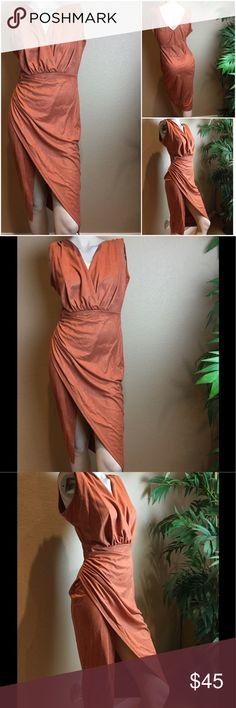 NWOT Burnt Orange Faux Suede Dress Medium New, Never Worn. Smoke free home. Size is Medium Dresses Asymmetrical