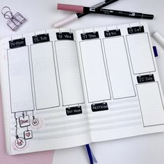 I love the black and white signs and the way they've transformed this weekly layout! My Uni Posca White pen is my new favourite toy!!! #bulletjournal #bulletjournalingcommunity #bulletjournaling #bulletjournalwee…