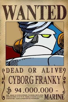 Franky Dressrosa Wanted Poster