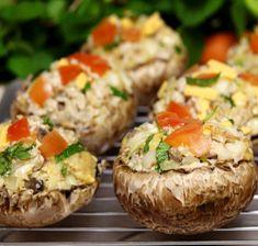 Recipes/Dinner/Overstuffed Portobello Mushroom Bake | Zone Diet | Home of Anti-Inflammatory Nutrition