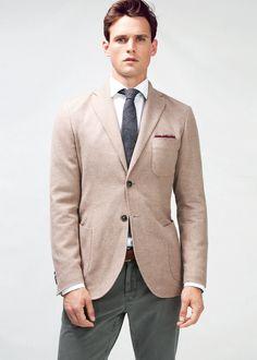 Perfect Labor Day Jacket Premium brushed cotton blazer - Men | H.E. BY MANGO