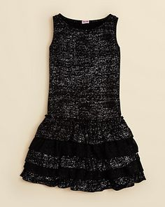 Splendid Girls' Frosty Foil Ruffle Dress - Sizes 7-14 | Bloomingdale's