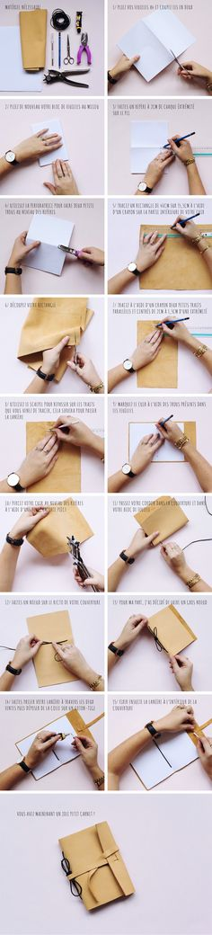 DIY : Carnet en cuir homemade                                                                                                                                                                                 Plus