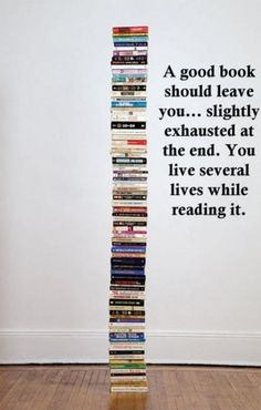 """A good book should leave you slightly exhausted at the end..."" - Unknown #quotes #writing #reading"