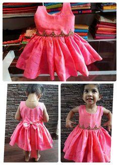 Cotton Frocks For Kids, Frocks For Girls, Kids Dress Wear, Kids Gown, Baby Frocks Designs, Kids Frocks Design, Baby Girl Dress Patterns, Little Girl Dresses, Baby Frock Pattern