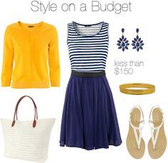 """""""Navy and Bright"""" by bluehydrangea on Polyvore"""