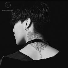 to the VIPs out there: this is G-Dragon's tattoo, but for the sake of fanfiction, may I use this for yoongi? Daesung, Vip Bigbang, G Dragon Black, G Dragon Top, Choi Seung Hyun, Big Bang, G Dragon Tattoo, K Pop, Bigbang G Dragon