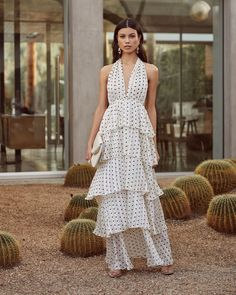 c1ced71238 Graciously Yours Tiered Polka Dot Maxi Dress