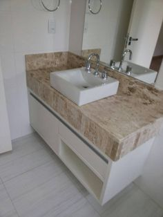 Gabinete para Banheiro Bathroom Sink Bowls, Bathroom Sink Cabinets, Toilette Design, Washbasin Design, Restroom Design, Rustic Bathroom Decor, Wardrobe Design, Apartment Interior Design, Small Bathroom