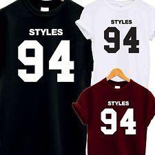 HARRY Styles 94 T Camicia TOP MAGLIETTA ONE DIRECTION musica 1D fan d.o.b Tumblr Horan