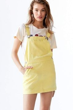 Urban Outfitters Pinne Canvas Skirtall Overall