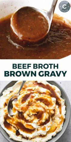 Beef Gravy Recipe, Brown Gravy Recipe, Baked Chicken Recipes, Beef Recipes, Cooking Recipes, Sauce Recipes, Best Broccoli Cheese Soup, Broccoli Salad, Beef Broth