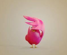 Shy Bird, Pizza Chen on ArtStation at http://www.artstation.com/artwork/shy-bird
