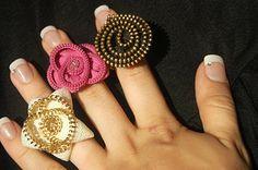 zip flower embellishments