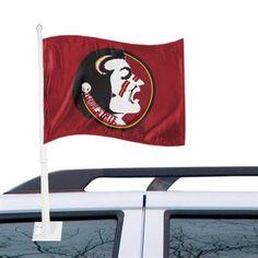 Florida State Seminoles (FSU) Garnet Car Flag-