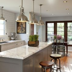 Gray Kitchen Island Design Ideas, Pictures, Remodel and Decor