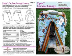Infant Carseat Canopy & DIY Carseat Canopy http://icandy-handmade.com/2014/04/diy-carseat ...