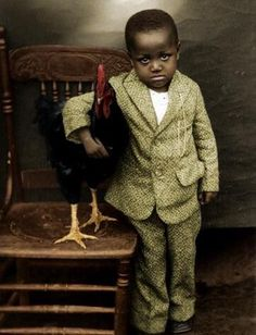 '20s boy with rooster