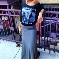 Band Tees & Maxi Skirts - like sweats you can wear in public. Glorious.