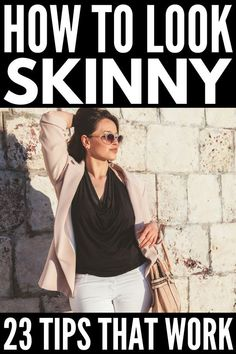 Want to know how to dress to look thinner so you can shed 10 lbs without dieting or exercising? We've got 23 fashion tips you DON'T want to miss! How to Dress to Look Thinner: 23 Slimming Fashion Tips That Work! - How to Look Skinny in a Day Fashion Over 50, Look Fashion, Fashion Outfits, Fashion Hacks, Dress Fashion, Fashion Sandals, French Chic Fashion, Parisian Chic Style, Over 50 Womens Fashion