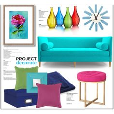 Decorating by lilieshomeandgarden on Polyvore featuring polyvore interior interiors interior design home home decor interior decorating Joybird Furniture Crate and Barrel Surya Howard Elliott Mod Made colors ProjectDecorate