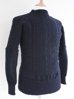 Gansey Sweater - Bridlington Gansey - Navy - Wayside Flower - Wayside Flower