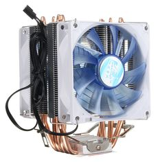 92mm 3 Pin Blue LED Copper CPU Cooler Cooling Fan Heatsink for Intel LGA775/1156/1155 AMD AM2/2+/3