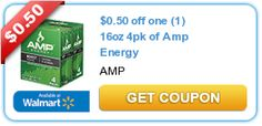 $0.50 off one (1) 16oz 4pk of Amp Energy  New coupons and deals for active seniors daily at www.SeniorSpotChicago.com