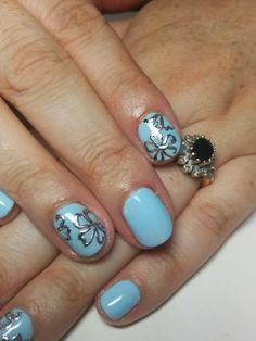 Penny is the BOMB at amazing nail art!   #monaco #nails #nailart #blue #foils #acg
