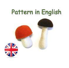 Pattern crochet boletus *orange-cap boletus *Pattern crochet mushroom *crochet food pattern #Tutorials #crochet #boletus #beautiful #mushroom #amigurumi