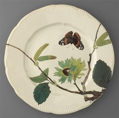 19th C. plate from the Service Lambert-Rousseau, musée d'Orsay