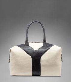EDIUM YSL EASY BICOLOR IN IVORY AND BLACK CLASSIC LEATHER Best Handbags 7633663c59b55