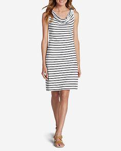 Women's Cowl Neck Dress - Stripe | Eddie Bauer