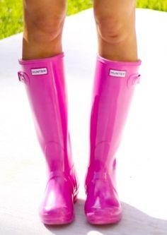 Pink Rain Boots, LOVE!