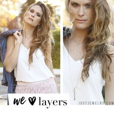 Don't be afraid to layer up!  Many of our new, subtle pieces can be mixed & matched for a layered look that is sure to please. SHOP: http://bit.ly/1LqueHr #justjewelry #jewelry #layered #fashiontrends #springfashion #fashionaccessories #new