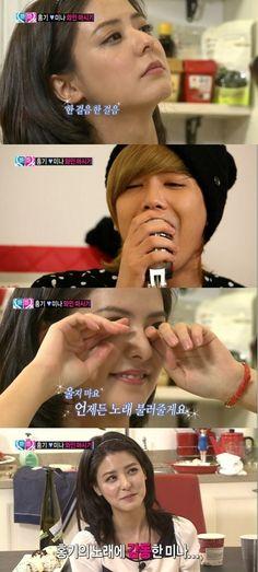 [News] 130426 Fujii Mina moved to tears with Lee Hongki's serenade Wgm Couples, Ft Island, We Get Married, Kdrama, Kpop, News