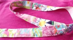 Unique Handmade Cloth Belt w Lilly Pulitzer Fabrics Prints SIZE S/M. Mint! RARE! #VeraAuburn