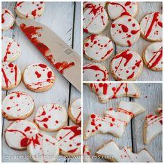 Halloween Splatter-Cookies mit Blut Rezept Feed me up before you go-go