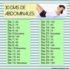 abdominales por 30 dias